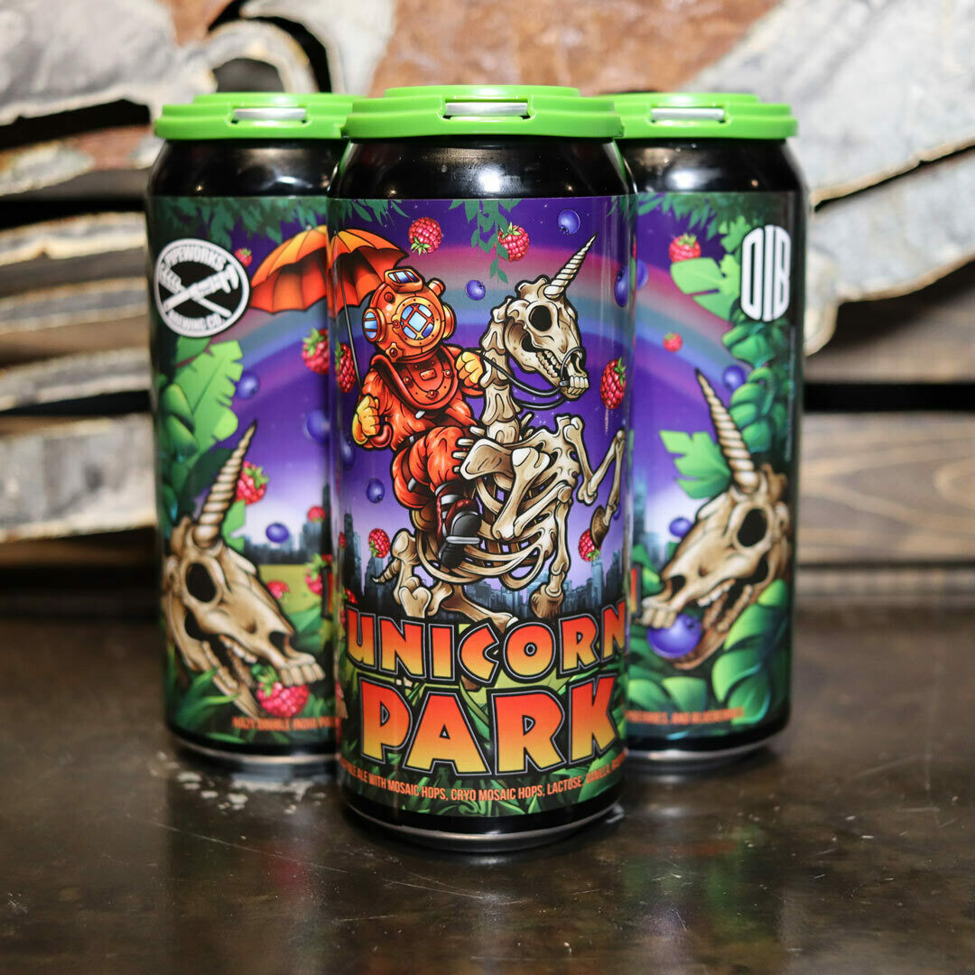 Pipeworks/Old Irving Unicorn Park Hazy DIPA w/Lactose, Vanilla, Raspberries, & Blueberries 16 FL. OZ. 4PK Cans