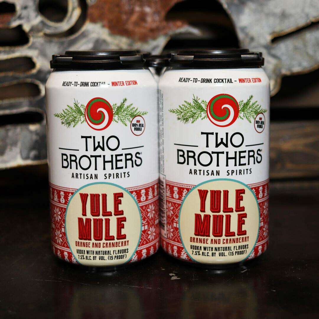 Two Brothers Yule Mule Vodka Soda w/Orange & Cranberry 12 FL. OZ. 4PK Cans