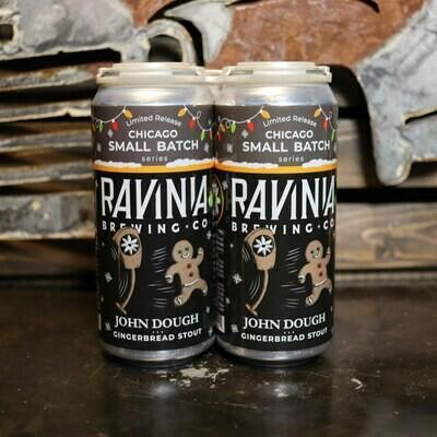Ravinia John Dough Gingerbread Stout 16 FL. OZ. 4PK Cans