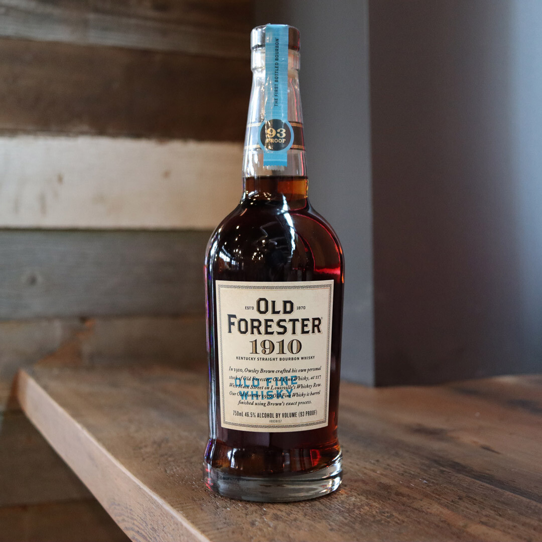 Old Forester 1910 Old Fine Whisky Bourbon Whiskey 750ml.
