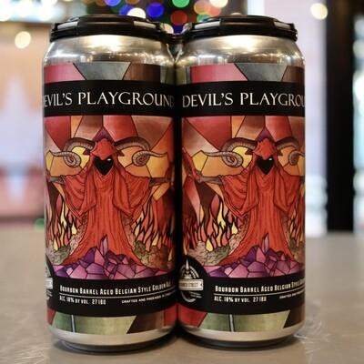 Church Street Devil's Playground  BBA Belgian Golden Ale 16 FL. OZ. 4PK Cans