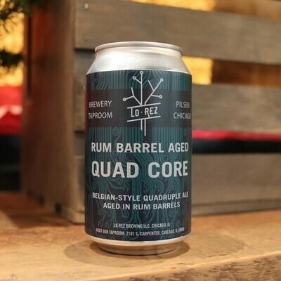 Lo Rez Quad Core Rum Barrel Aged Belgian Quadruple 12 FL. OZ. Can
