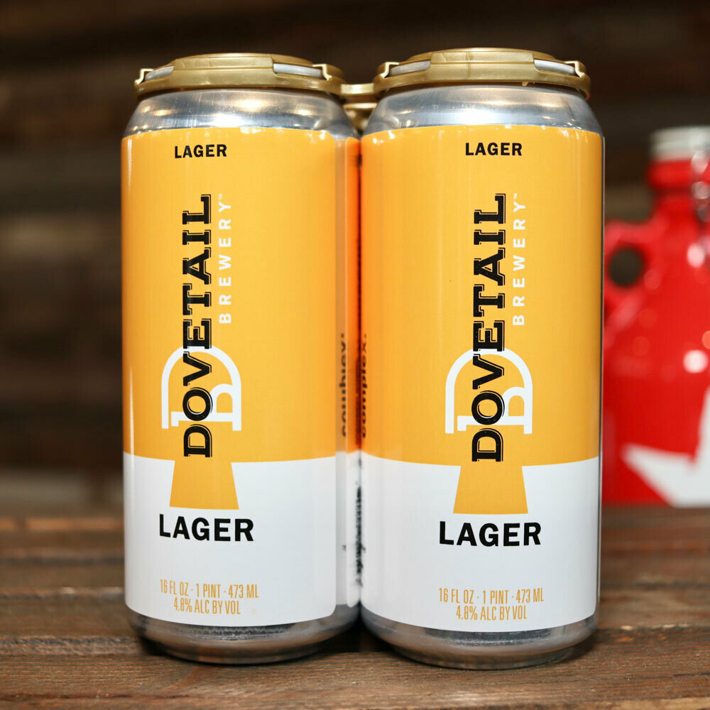 Dovetail Lager 16 FL. OZ. 4PK Cans