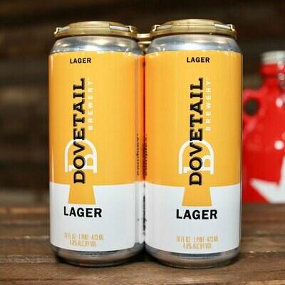 Dovetail Lager 16 FL. OZ. 4PK Cans