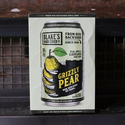 Blake's Grizzly Pear Cider 12 FL. OZ. 6PK Cans