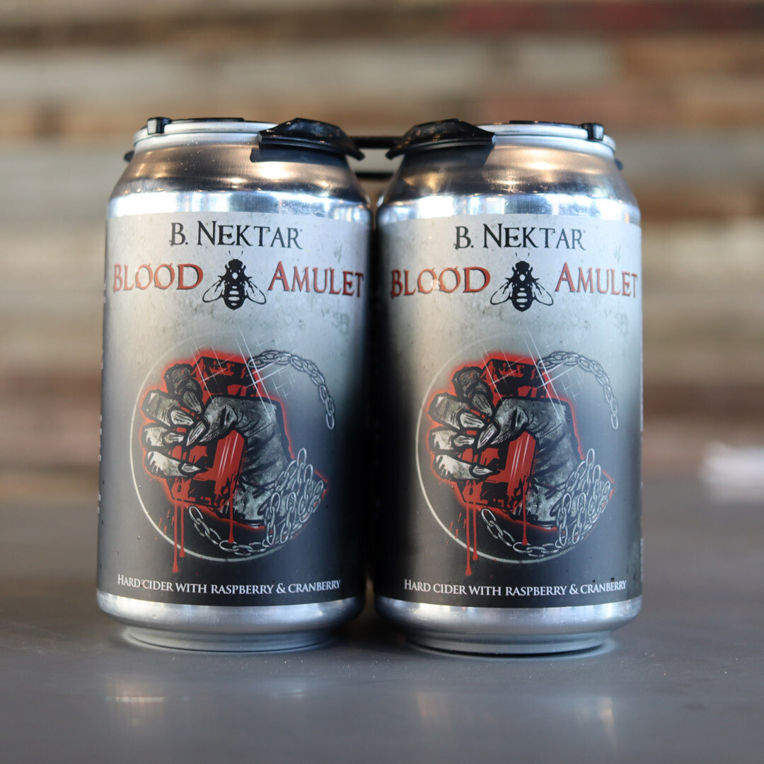 B. Nektar Blood Amulet Cider w/Rasp & Cran 12 FL. OZ. 4PK Cans