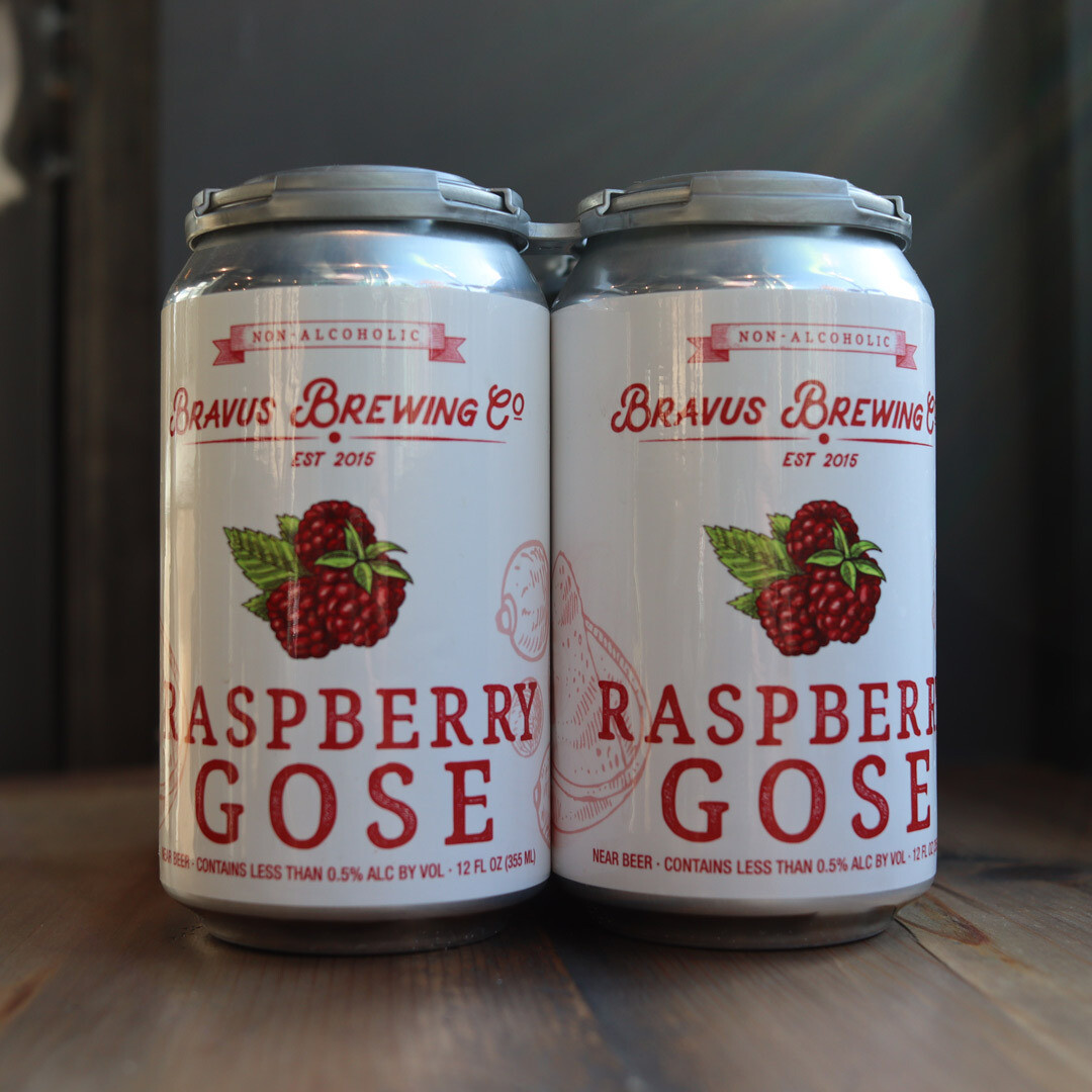 Bravus Non-Alcoholic Raspberry Gose 12 FL. OZ. 4PK Cans