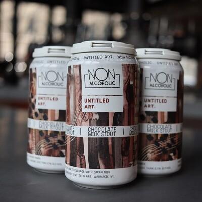 Untitled Art Non-Alcoholic Chocolate Milk Stout 12 FL. OZ. 4PK Cans