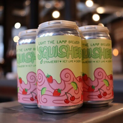 Light The Lamp Squishee Key Lime, Cherry, Strawberry Sour 12 FL. OZ. 4PK Cans