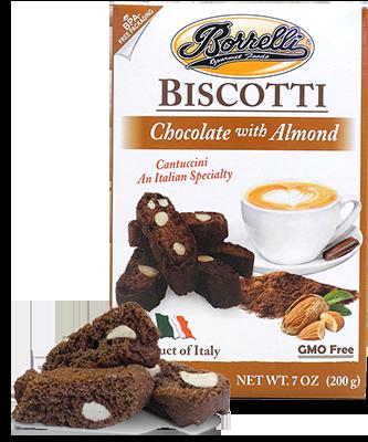 Borrelli - Biscotti Chocolate w/Almond