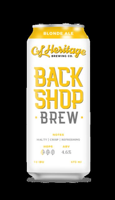 GL Heritage - Back Shop Brew (Blonde Ale)