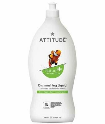 Attitude - Dishwashing Liquid - Green Apple & Basil  700ml
