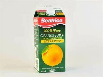 Beatrice - 100% Pure Orange Juice 1.75L