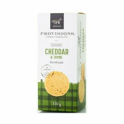 Provisions - Cheddar & Thyme Shortbread 110g
