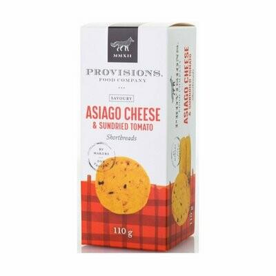 Provisions - Asiago Cheese & Sundried Tomato Shortbread 110g