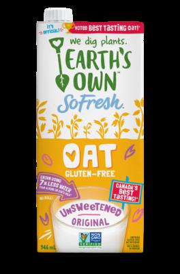 Earth's Own - Oat GF  Unsweetened Original