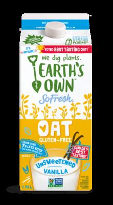 Earth's Own - Oat GF Unsweetened Vanilla