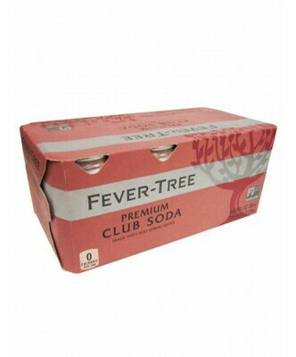 Fever Tree - 8pk cans Club Soda