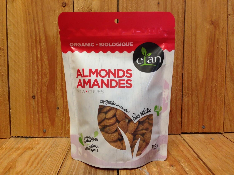 Elan - Org. Almonds Raw (200g)