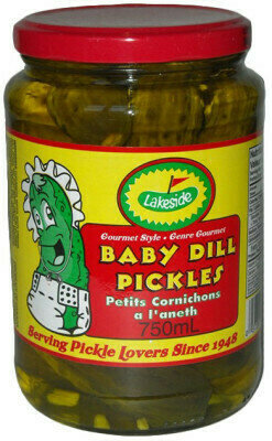 Lakeside Pickles - Baby Dill Pickles  (750ml)