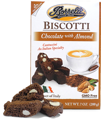 Borrelli - Biscotti Chocolate w/Almond