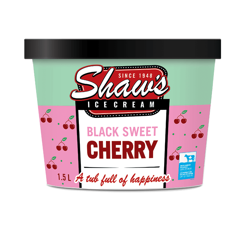 Shaw's Ice Cream -  Black Sweet Cherry  1.5L
