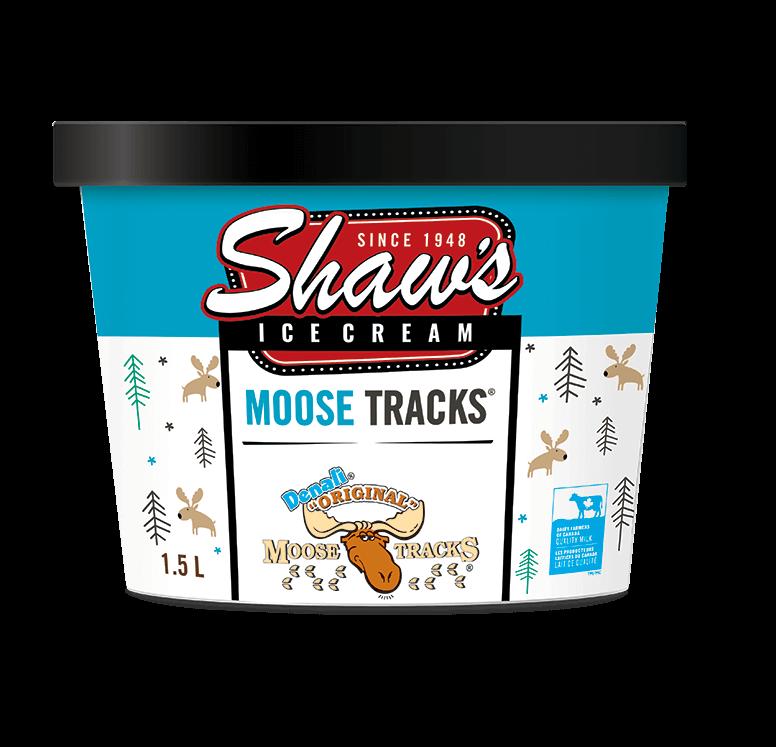 Shaw's Ice Cream - Moose Tracks 1.5L