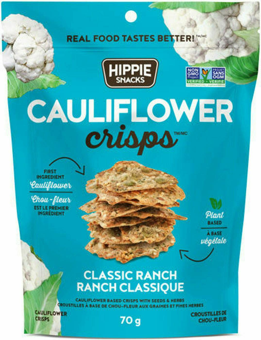 Hippie Foods - Cauliflower Crisps - Classic Ranch