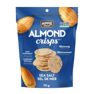 Hippie Foods - Almond Crispe - Sea Salt