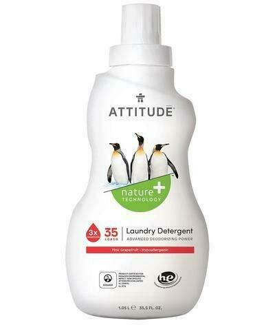 Attitude Laundry Detergent - Pink Grapefruit 1.05ltr