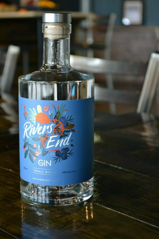 Wolfhead - River's End Gin 750ml