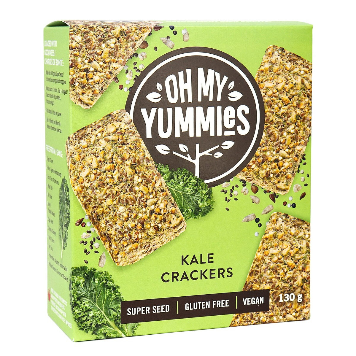Oh My Yummies - Kale Crackers