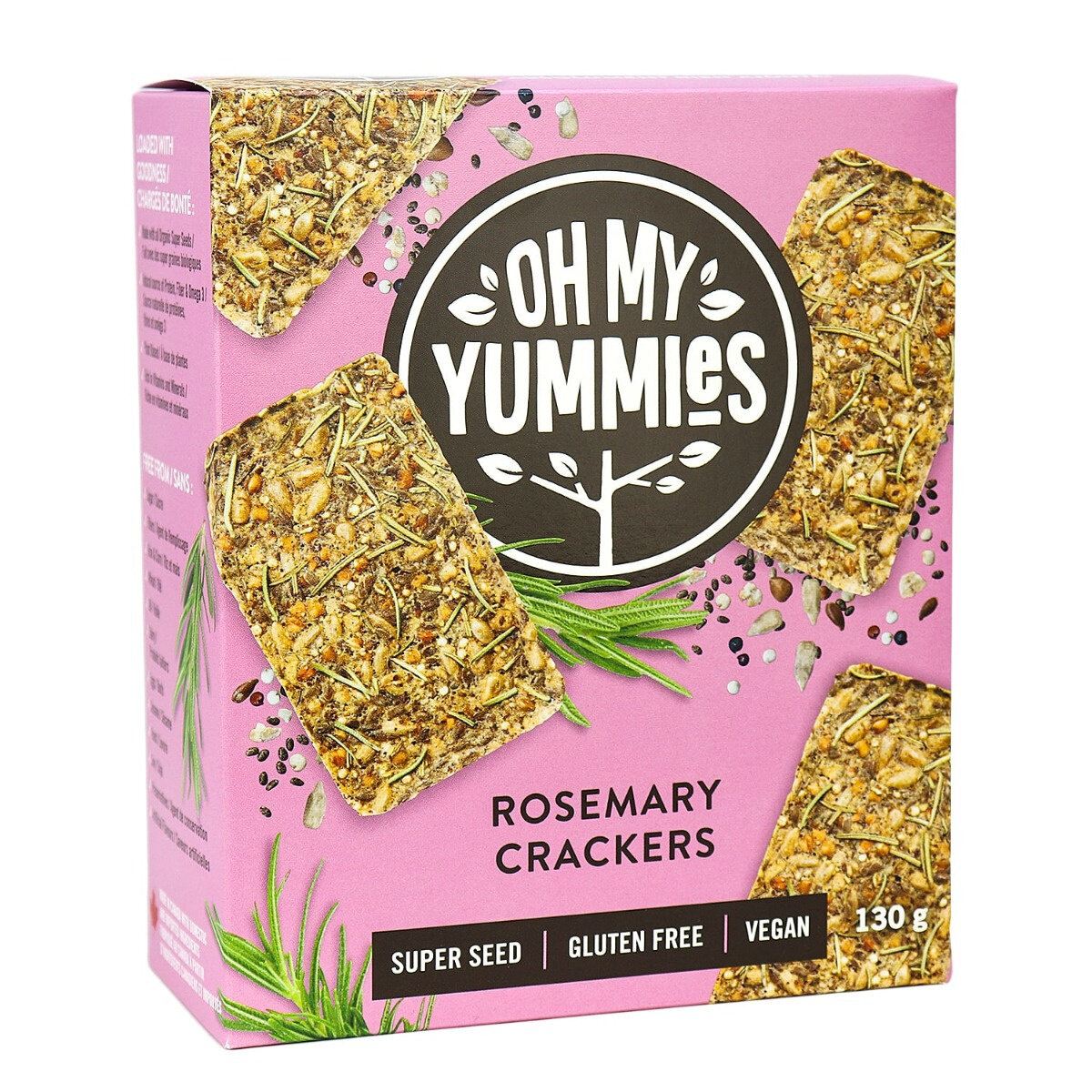 Oh My Yummies - Rosemary Crackers