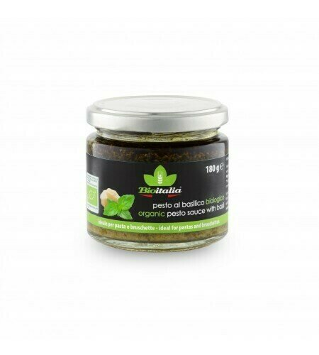 Bioitalia - Organic Pesto Sauce w/Basil   160ml