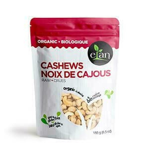 Elan - Organic Cashews Raw 185g