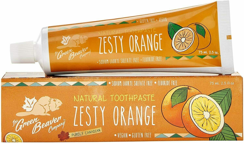 The Green Beaver - Zesty Orange Toothpaste 75ml