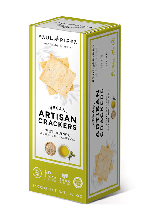 Paul & Pippa - Vegan Crackers w/Quinoa