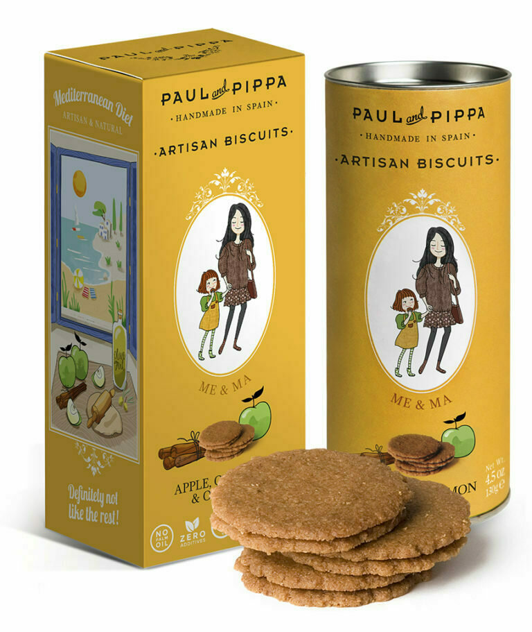 Paul & Pippa - Vegan Biscuits Apple Cinnamon & Olive Oil