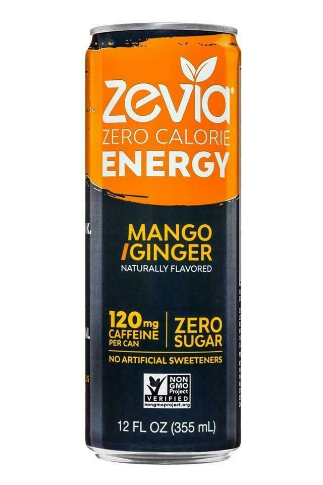 Zevia - Mango & Ginger Energy Drink