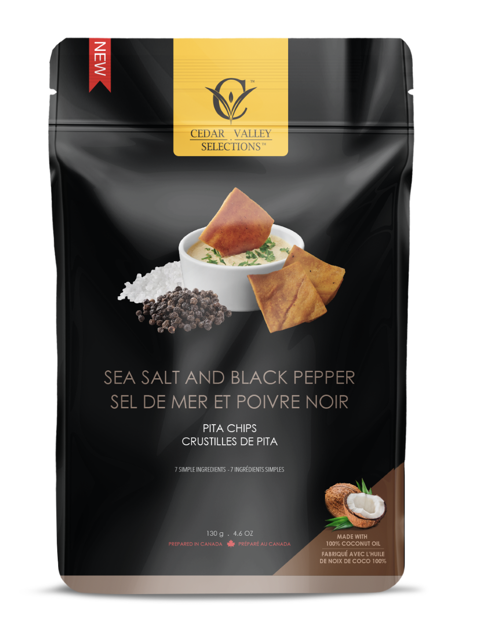 Cedar Valley - Sea Salt & Black Pepper Pita Chips