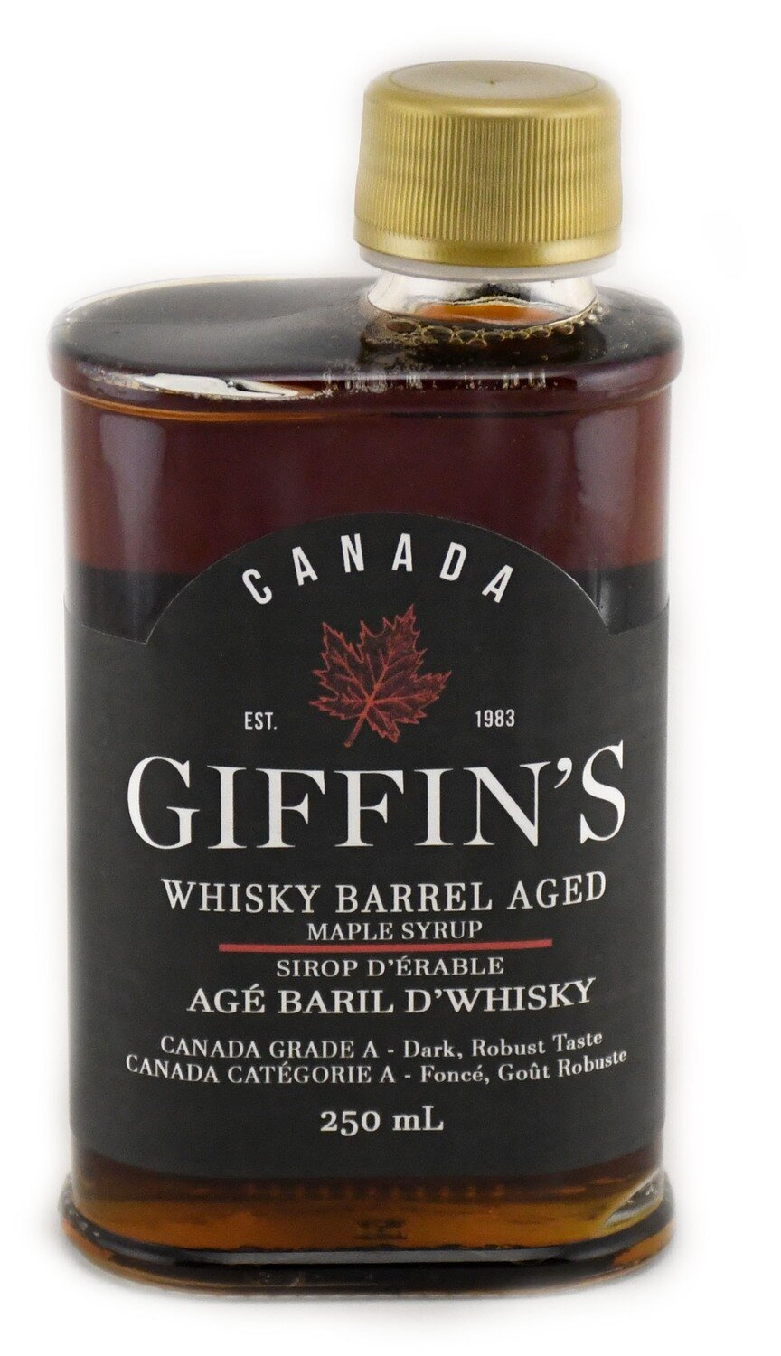 Giffin's Maple Products - Whiskey Barrel Aged Syrup 250ml