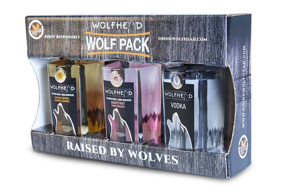 Wolfhead - Wolf Pack (3x 375ml) Vodka