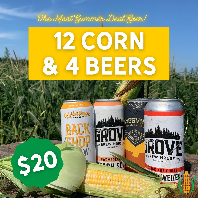 Corn - 12 Ears & 4 Beers  Deal