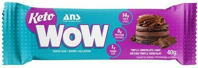 Ans Performance - Keto WOW Triple Chocolate Cake Bar (40g)