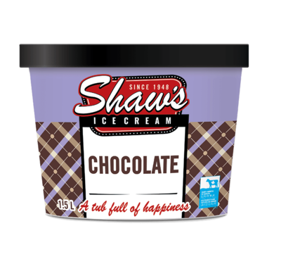 Shaw's Ice Cream - Chocolate 1.5L