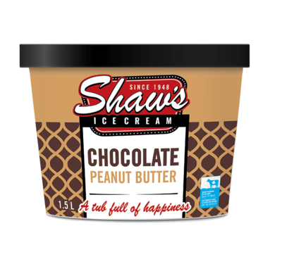 Shaw's Ice Cream - Chocolate Peanut Butter 1.5L