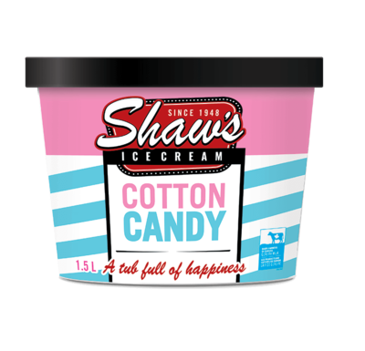 Shaw's Ice Cream - Cotton Candy 1.5L