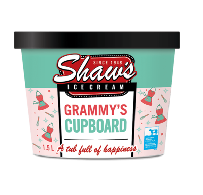 Shaw's Ice Cream - Grammy's Cupboard 1.5L