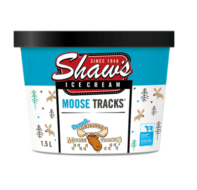 Shaw's Ice Cream - Moose Tracks 1.5L