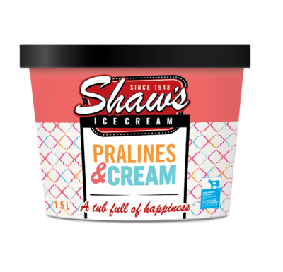 Shaw's Ice Cream - Pralines   1.5L